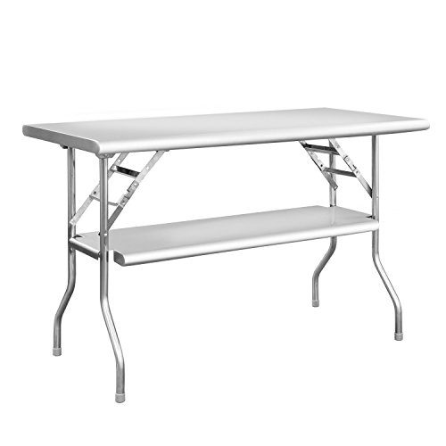 Royal Gourmet Commercial Stainless Steel Double Shelf